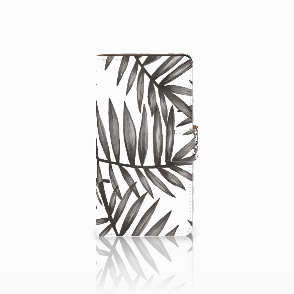 Huawei Ascend G700 Uniek Boekhoesje Leaves Grey