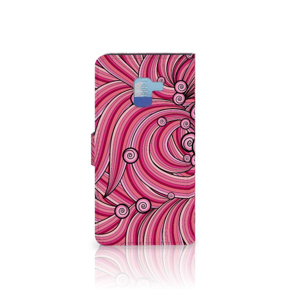 Samsung Galaxy A8 Plus (2018) Hoesje Swirl Pink