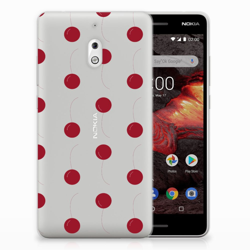 Nokia 2.1 (2018) Siliconen Case Cherries