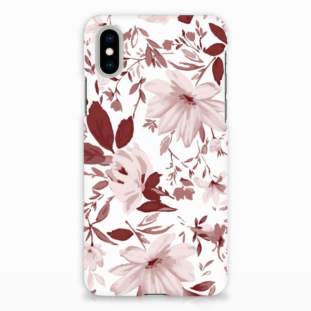 Apple iPhone X | Xs Uniek Hardcase Hoesje Watercolor Flowers