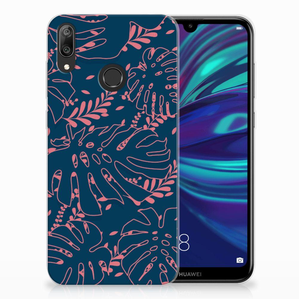 Huawei Y7 2019 TPU Hoesje Design Palm Leaves