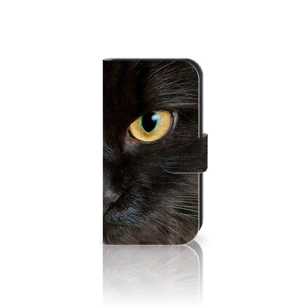 Samsung Galaxy Ace 4 4G (G357-FZ) Uniek Boekhoesje Zwarte Kat