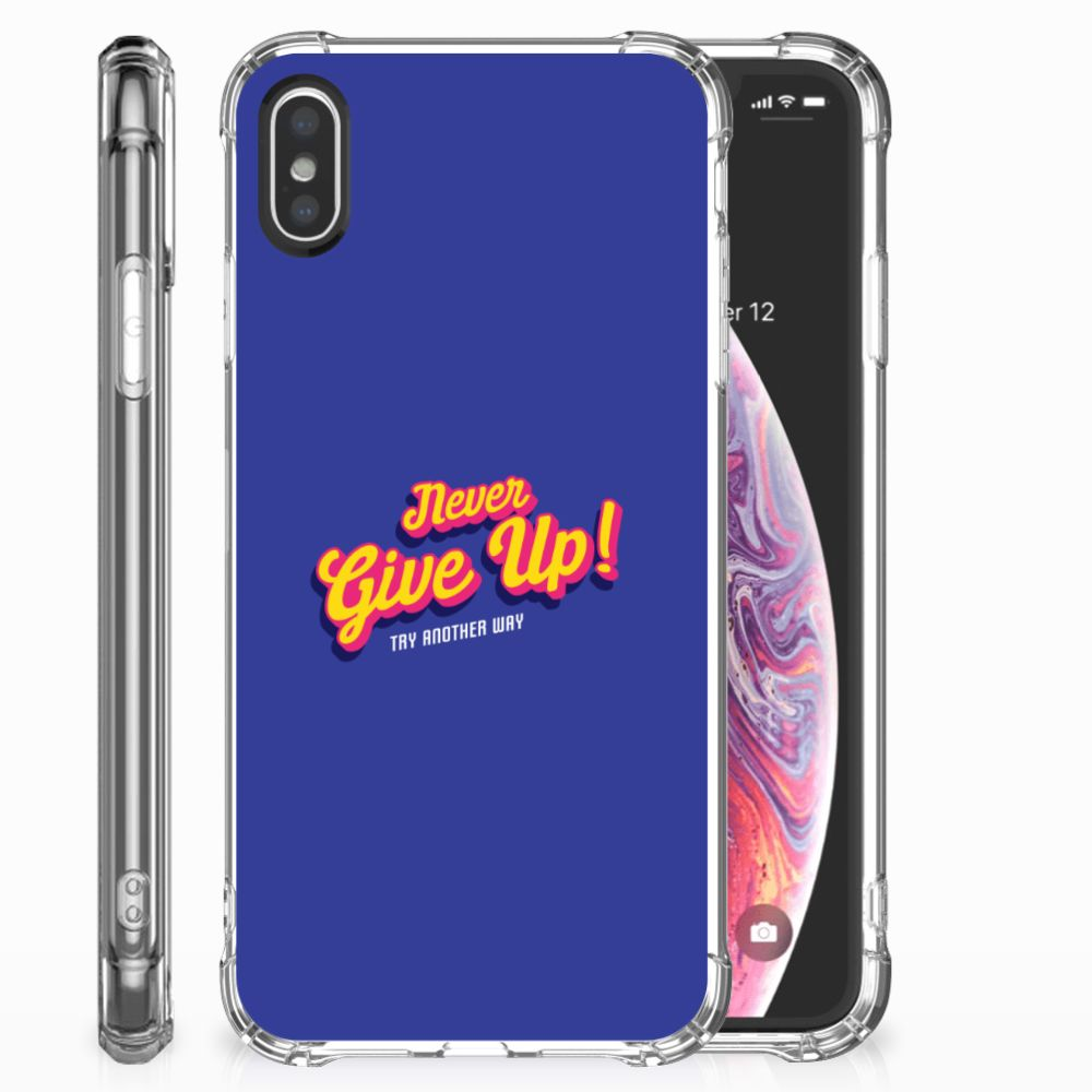 Apple iPhone X | Xs Telefoonhoesje met tekst Never Give Up