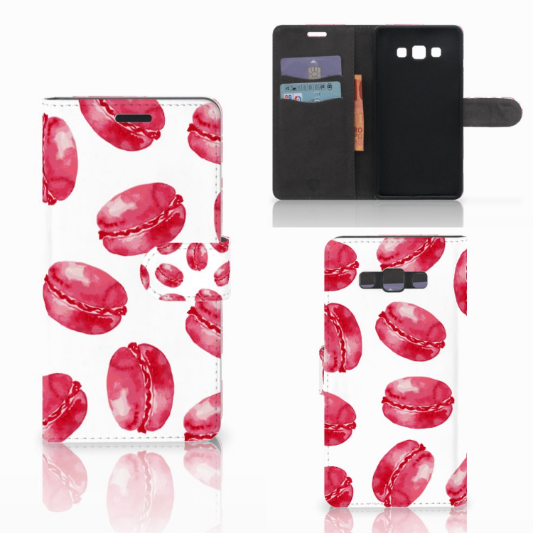 Samsung Galaxy A7 2015 Book Cover Pink Macarons