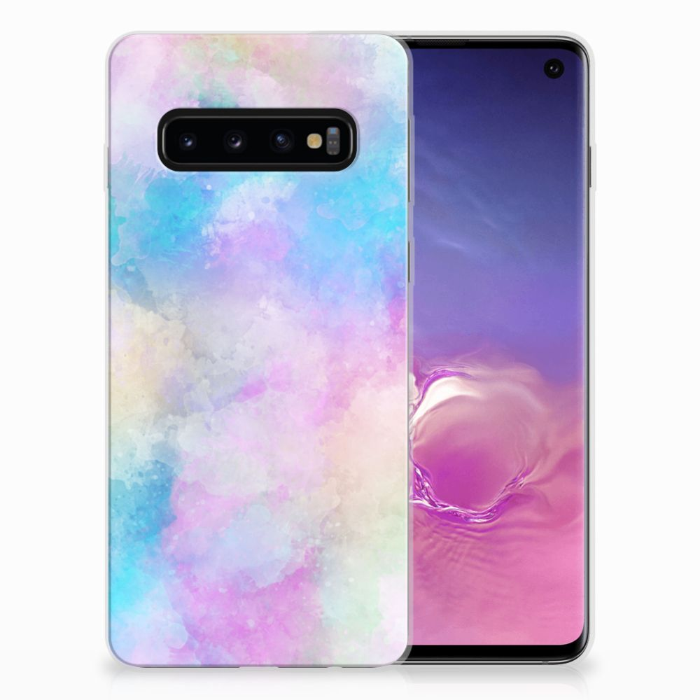 Hoesje maken Samsung Galaxy S10 Watercolor Light