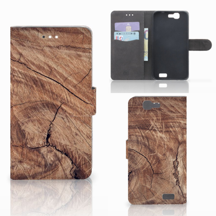 Huawei Ascend G7 Book Style Case Tree Trunk