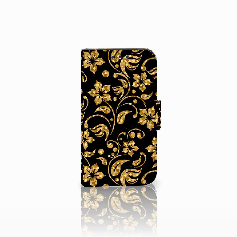 Lenovo B Boekhoesje Design Gouden Bloemen
