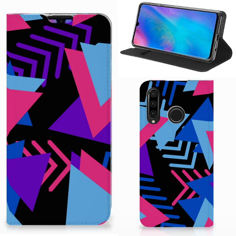 Huawei P30 Lite New Edition Stand Case Funky Triangle