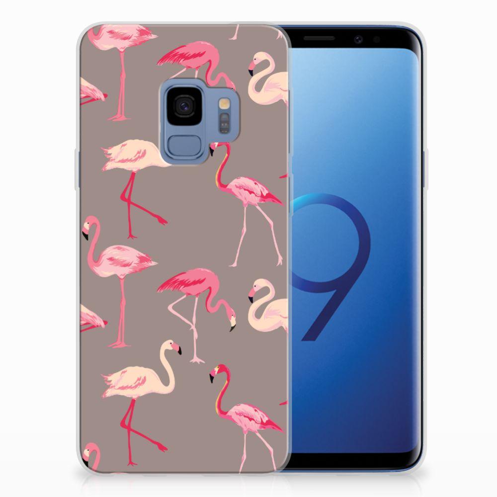 Samsung Galaxy S9 Uniek TPU Hoesje Flamingo