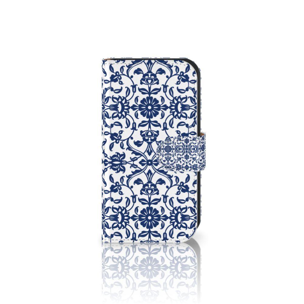 Samsung Galaxy Ace 4 4G (G357-FZ) Boekhoesje Flower Blue