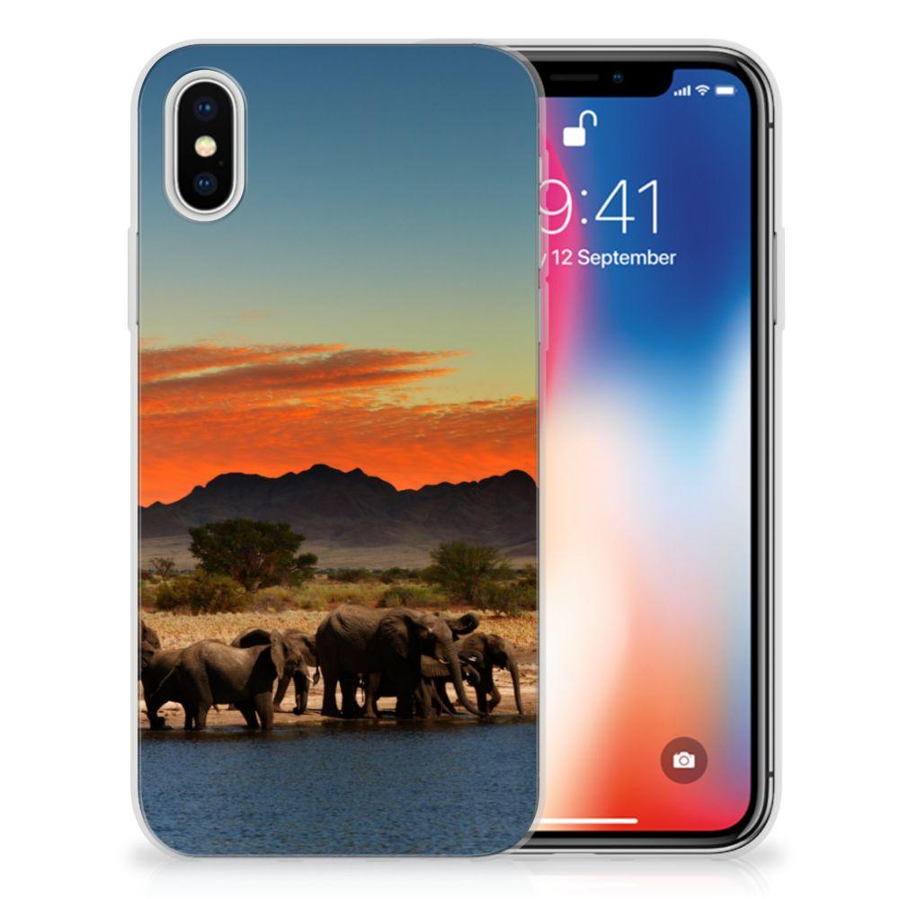 Apple iPhone X | Xs TPU Hoesje Design Olifanten