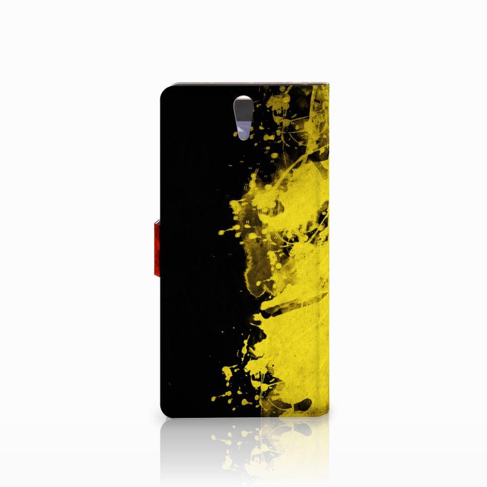 Sony Xperia C5 Ultra Bookstyle Case Belgische Vlag