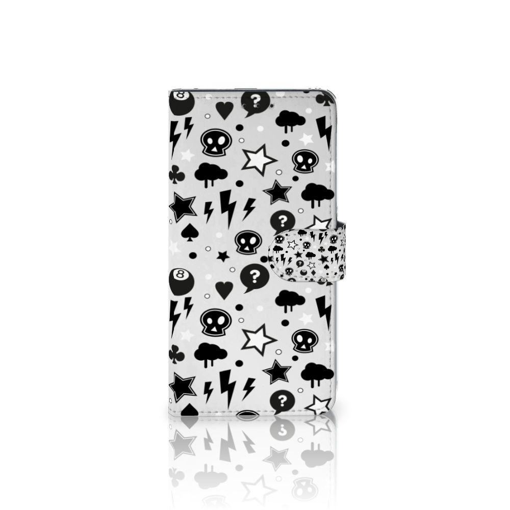 Samsung Galaxy A8 Plus (2018) Uniek Boekhoesje Silver Punk
