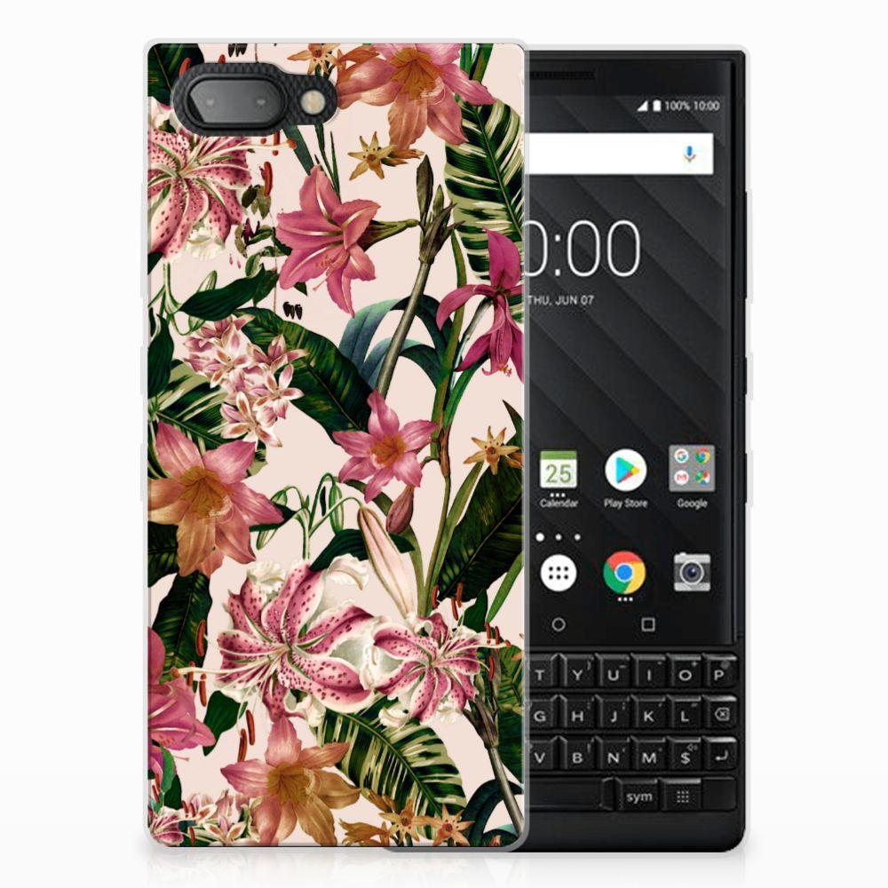 BlackBerry Key2 Uniek TPU Hoesje Flowers