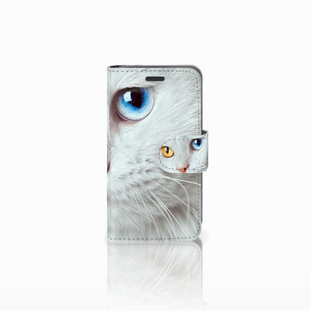 Nokia Lumia 520 Uniek Boekhoesje Witte Kat