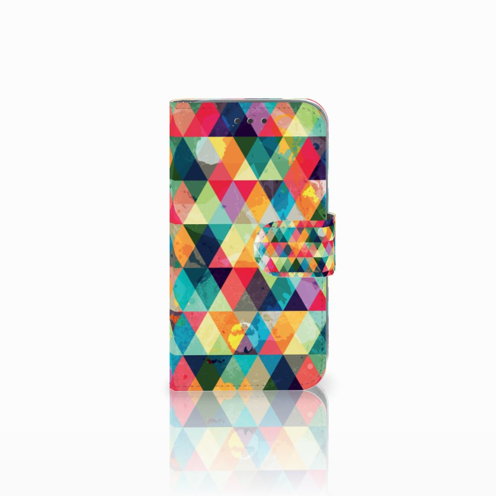 Samsung Galaxy Core Prime Uniek Boekhoesje Geruit