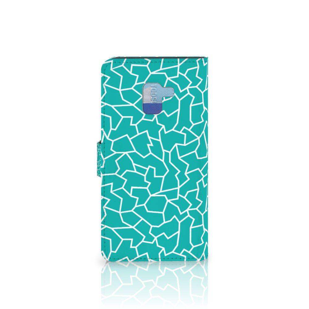 Samsung Galaxy A8 Plus (2018) Hoesje Cracks Blue
