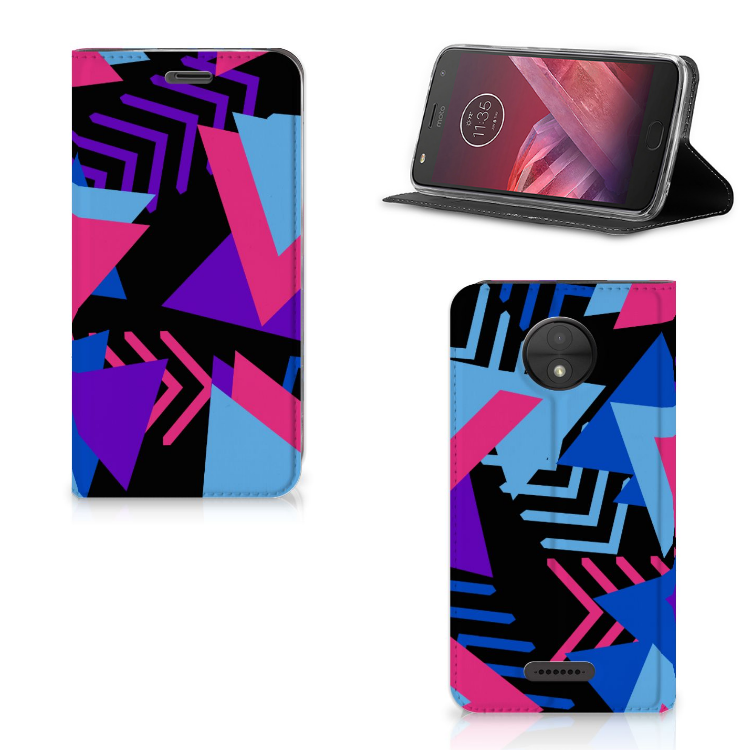 Motorola Moto C Stand Case Funky Triangle
