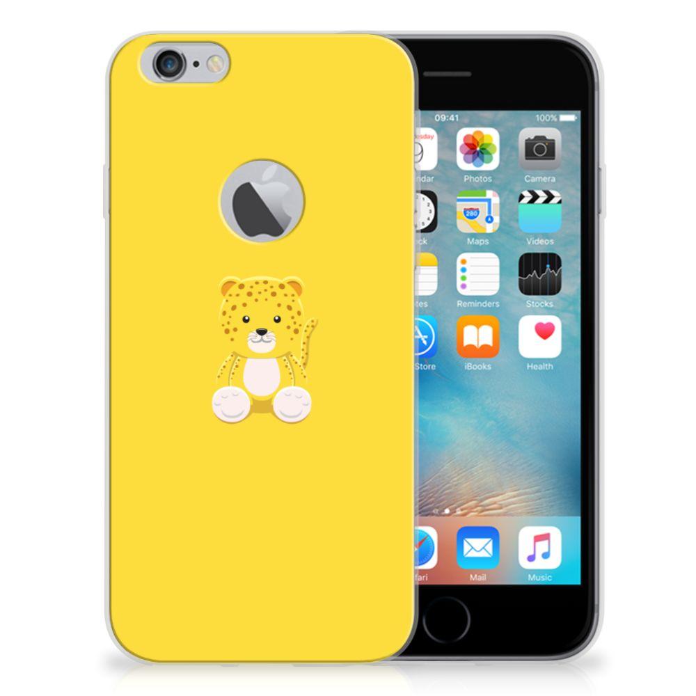 Apple iPhone 6 Plus | 6s Plus Telefoonhoesje met Naam Baby Leopard