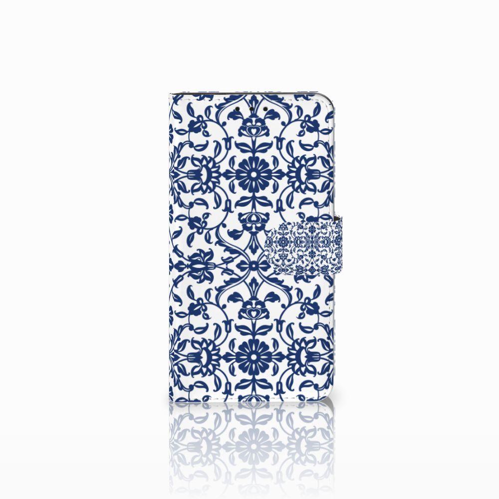 Huawei Honor 6X Uniek Boekhoesje Flower Blue
