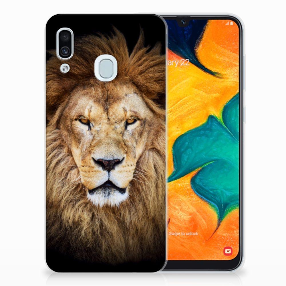 Samsung Galaxy A30 TPU Hoesje Leeuw