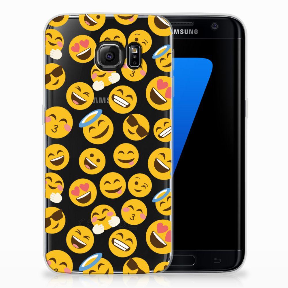 Samsung Galaxy S7 Edge TPU Hoesje Design Emoji