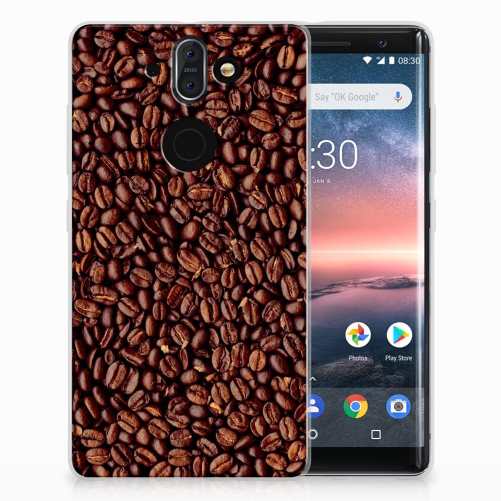 Nokia 9 | 8 Sirocco Siliconen Case Koffiebonen