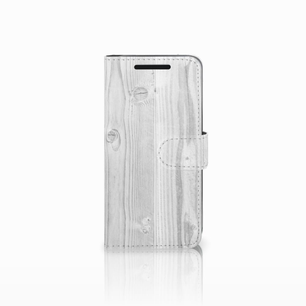 HTC One M9 Boekhoesje Design White Wood
