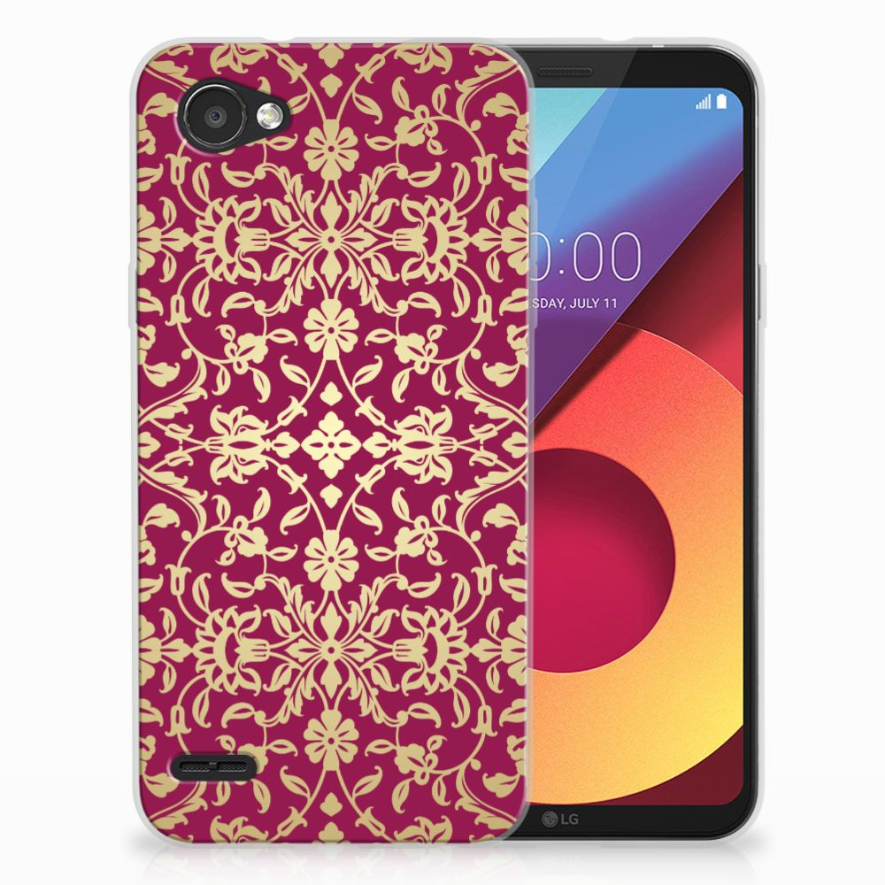 LG Q6 | LG Q6 Plus TPU Hoesje Design Barok Pink