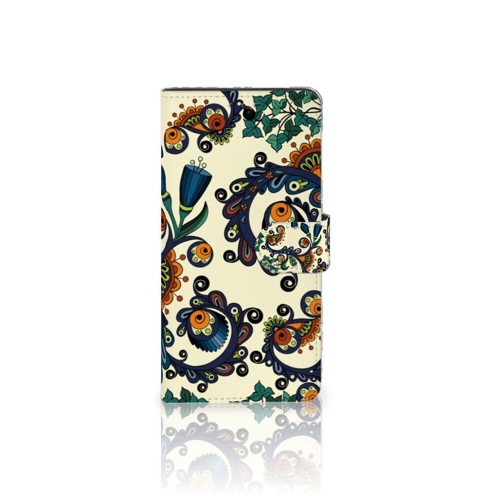Samsung Galaxy A7 (2018) Boekhoesje Design Barok Flower