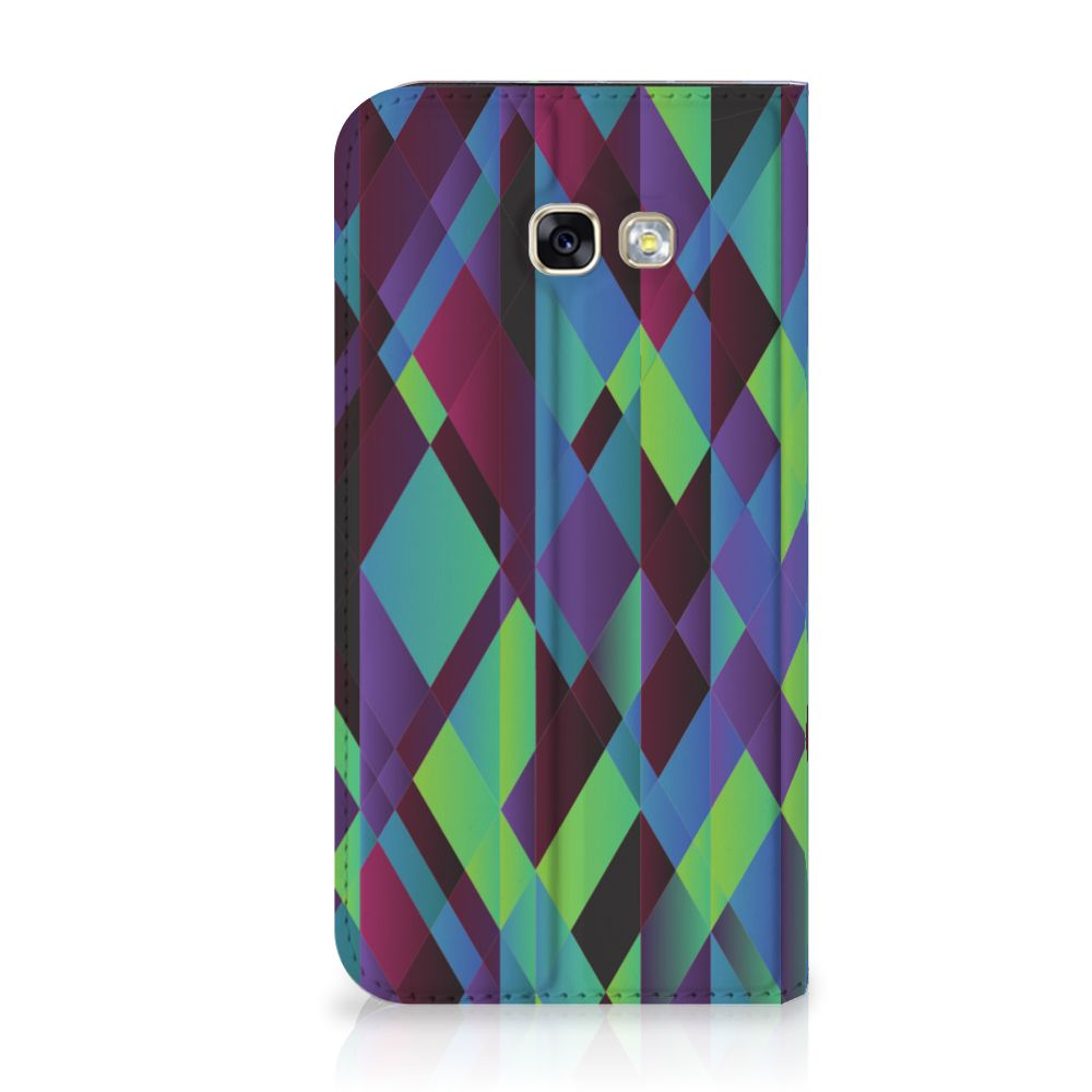 Samsung Galaxy A5 2017 Stand Case Abstract Green Blue