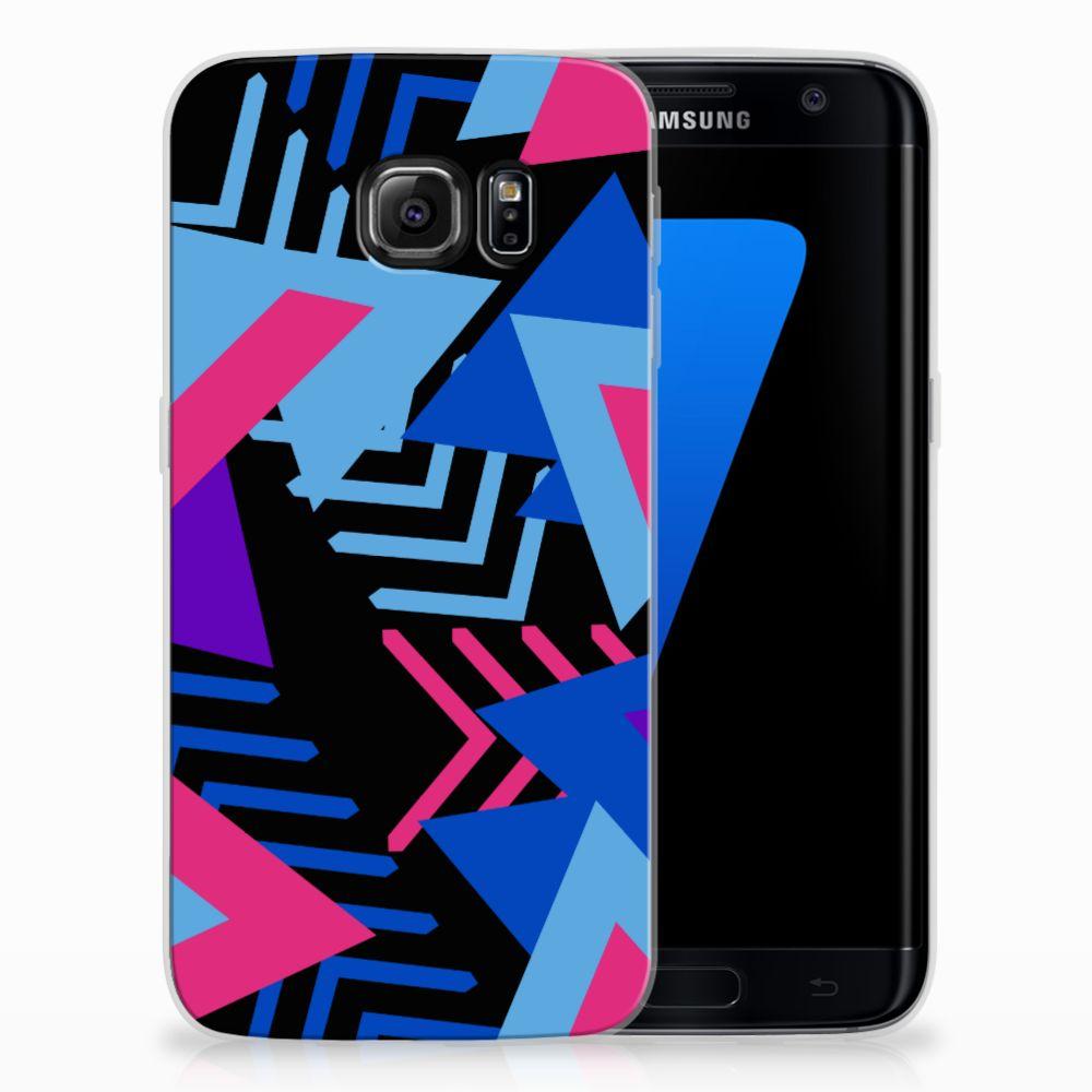 Samsung Galaxy S7 Edge TPU Hoesje Design Funky Triangle