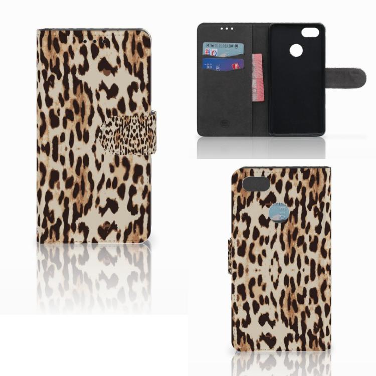 Huawei Y6 Pro 2017 Telefoonhoesje met Pasjes Leopard