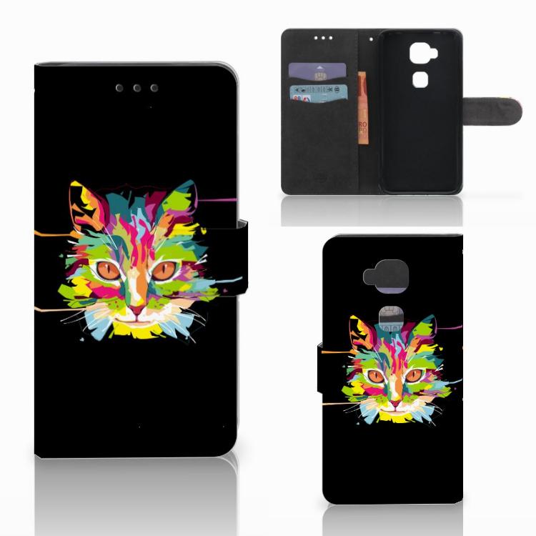 Huawei G8 Leuke Hoesje Cat Color