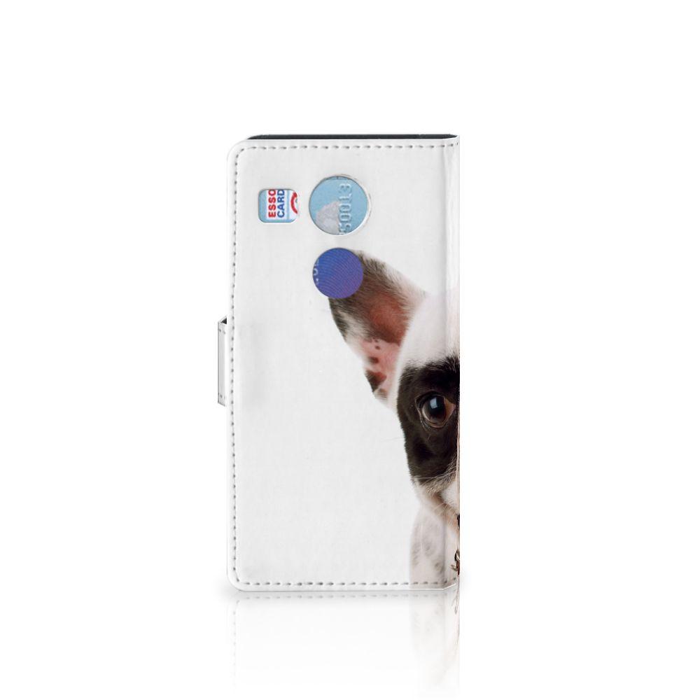 LG Nexus 5X Telefoonhoesje met Pasjes Franse Bulldog
