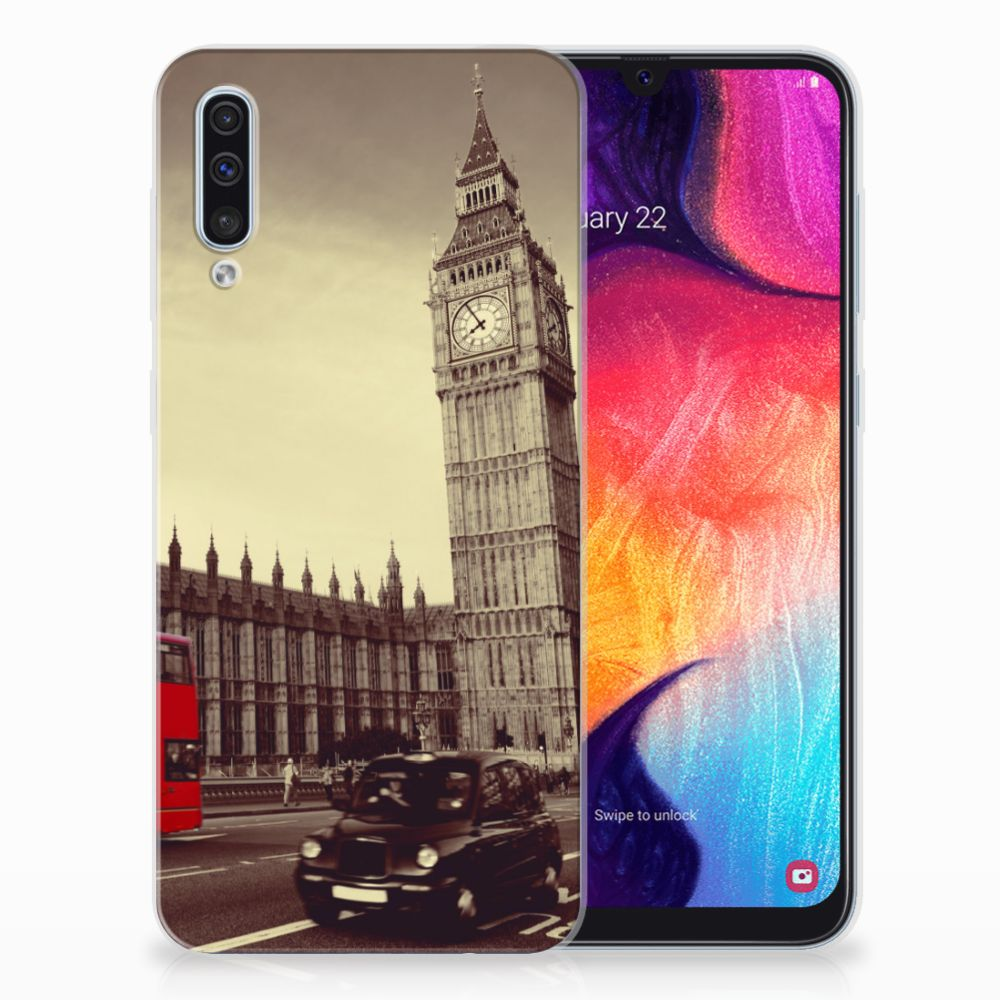 Samsung Galaxy A50 Siliconen Back Cover Londen