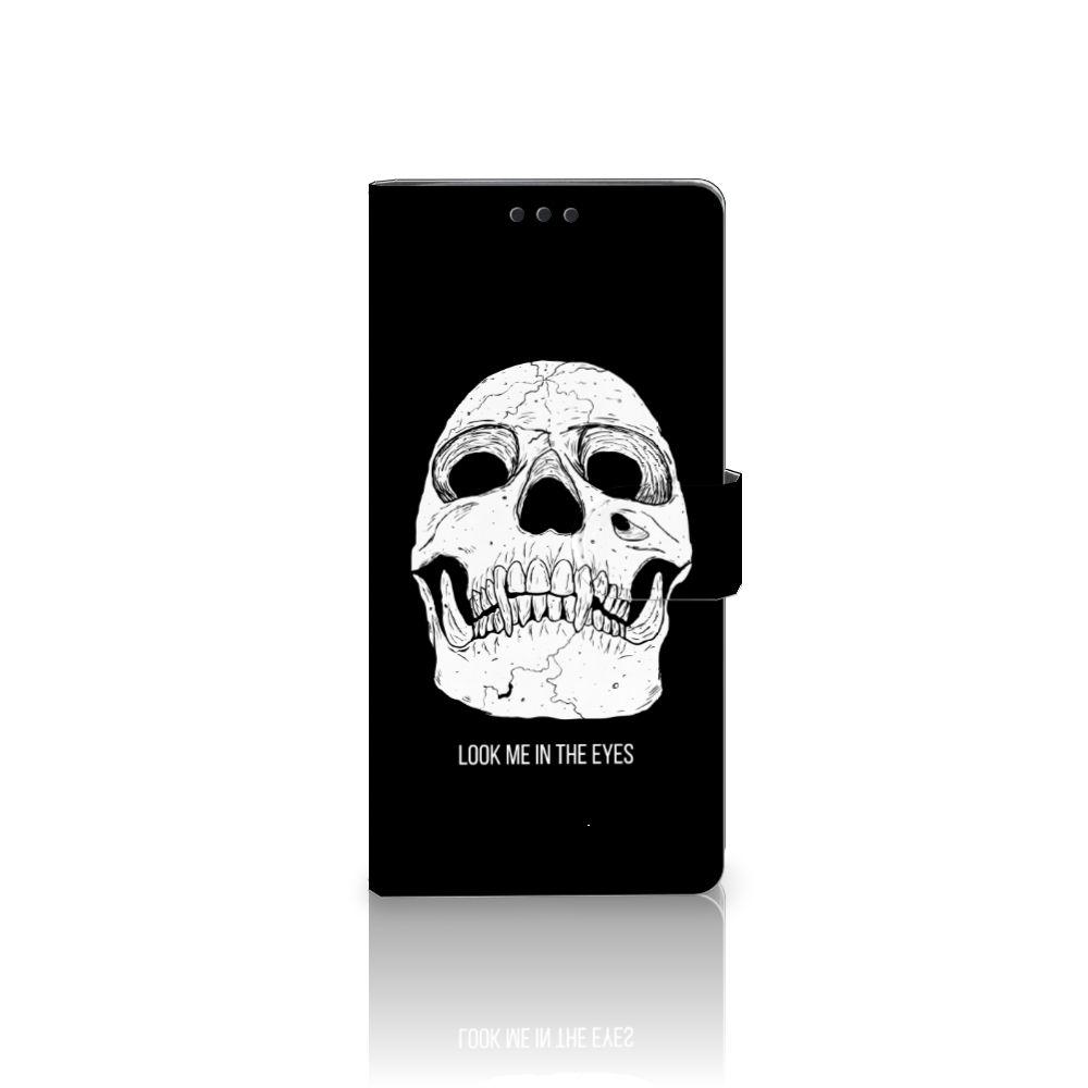 Sony Xperia XA Ultra Uniek Boekhoesje Skull Eyes