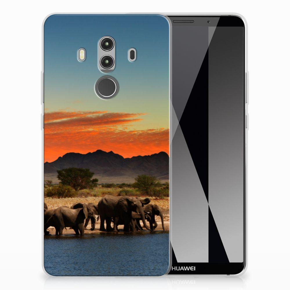 Huawei Mate 10 Pro TPU Hoesje Design Olifanten