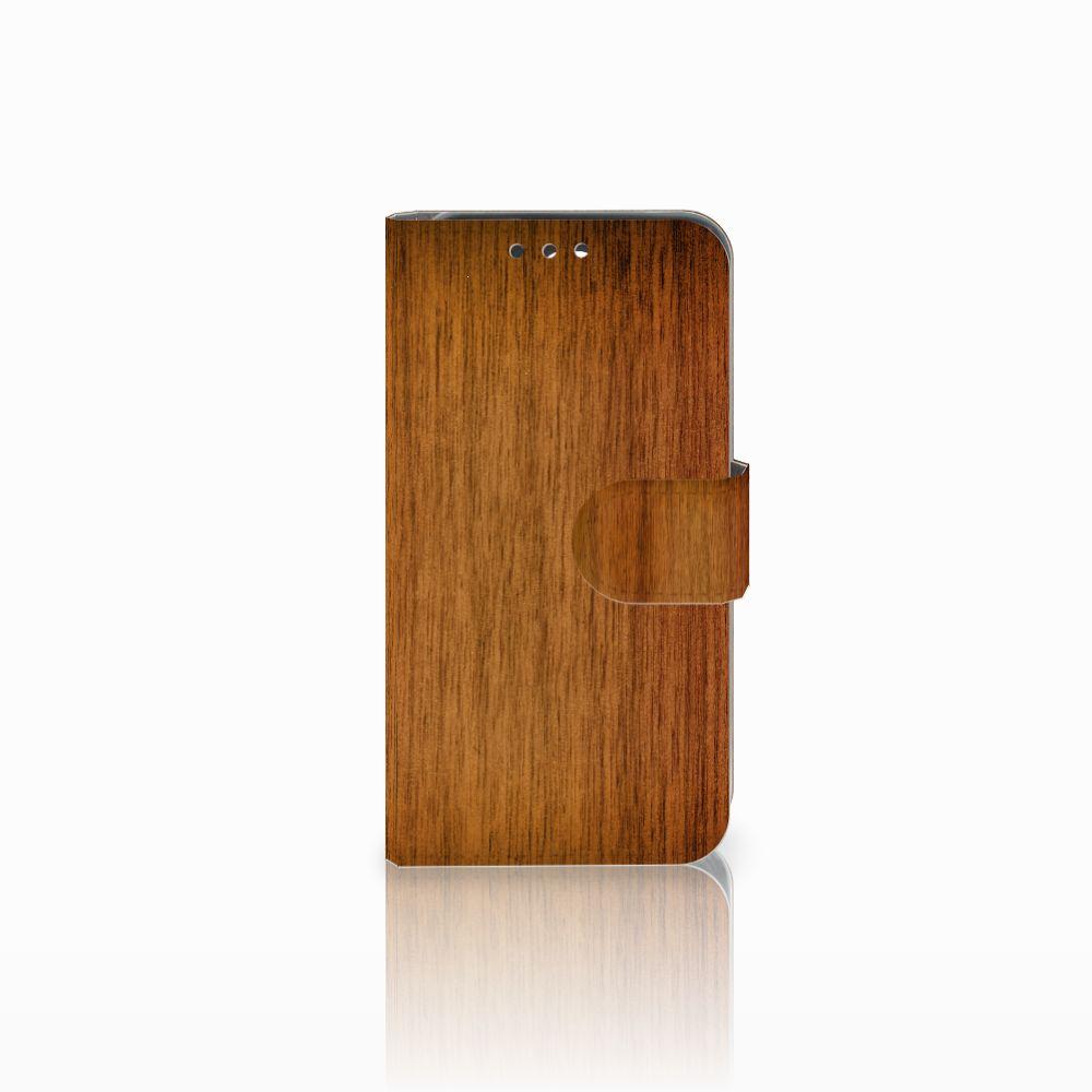 Huawei Y5 Y560 Uniek Boekhoesje Donker Hout