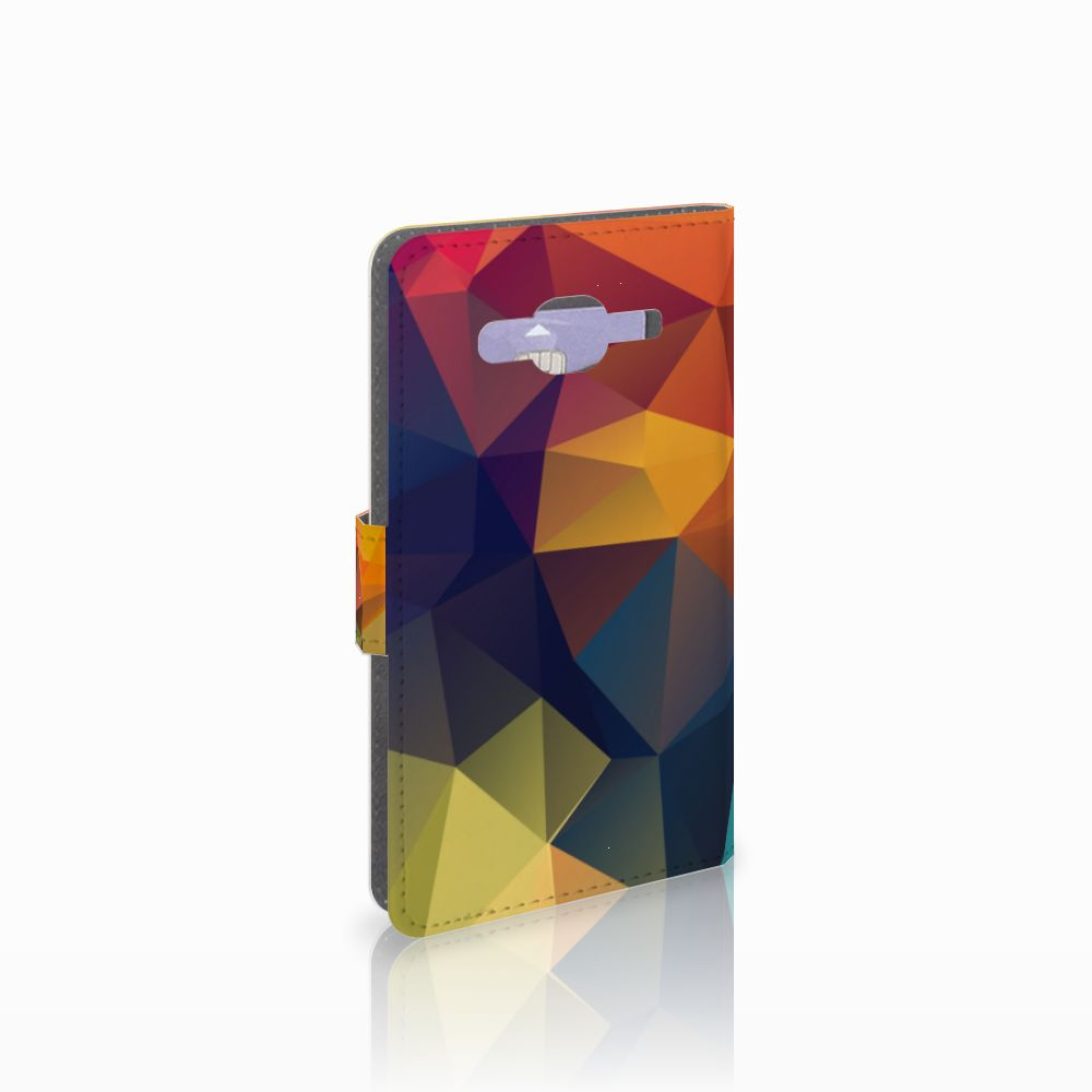 Samsung Galaxy J5 (2015) Boekhoesje Design Polygon Color