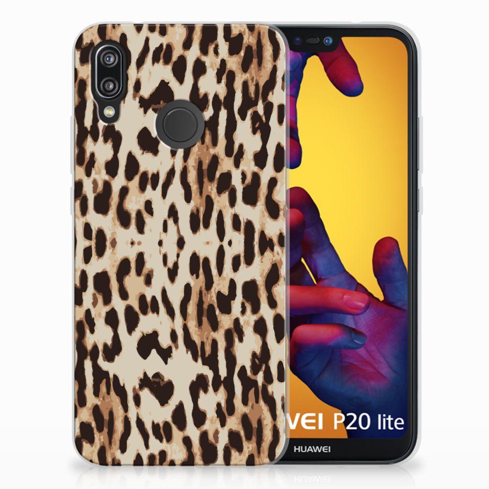 Huawei P20 Lite TPU Hoesje Leopard