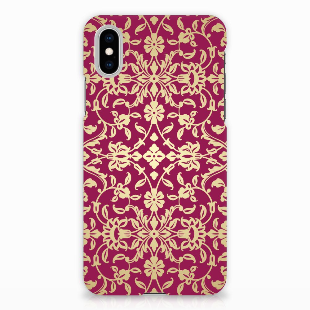 Apple iPhone X | Xs Hardcase Hoesje Design Barok Pink
