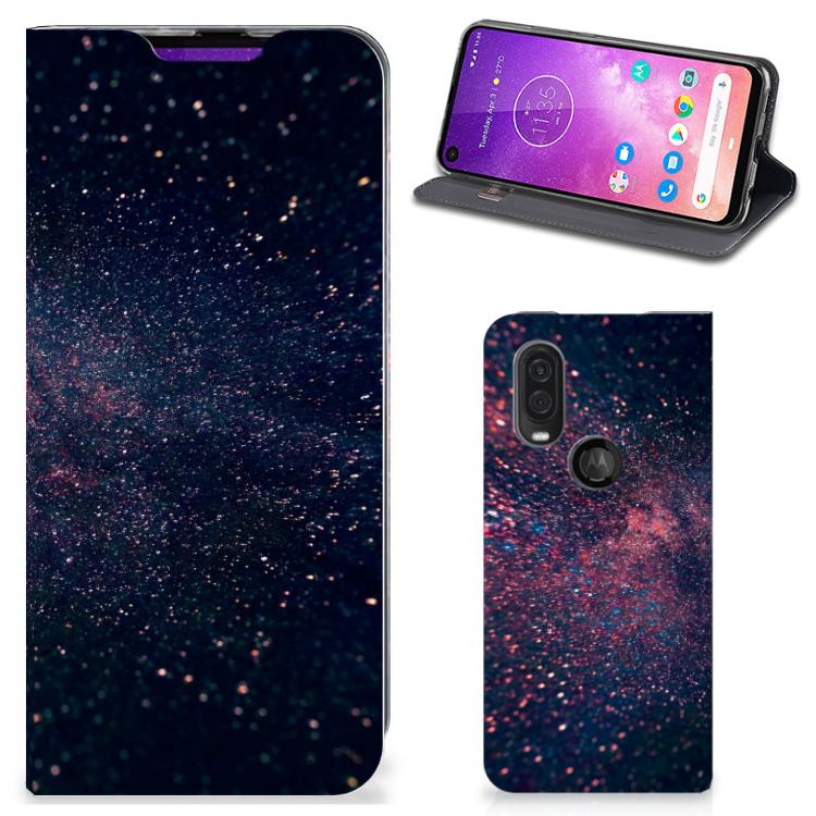 Motorola One Vision Stand Case Stars