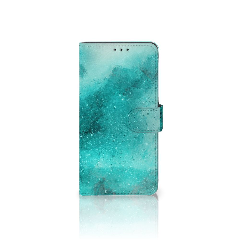 Hoesje Samsung Galaxy A8 Plus (2018) Painting Blue