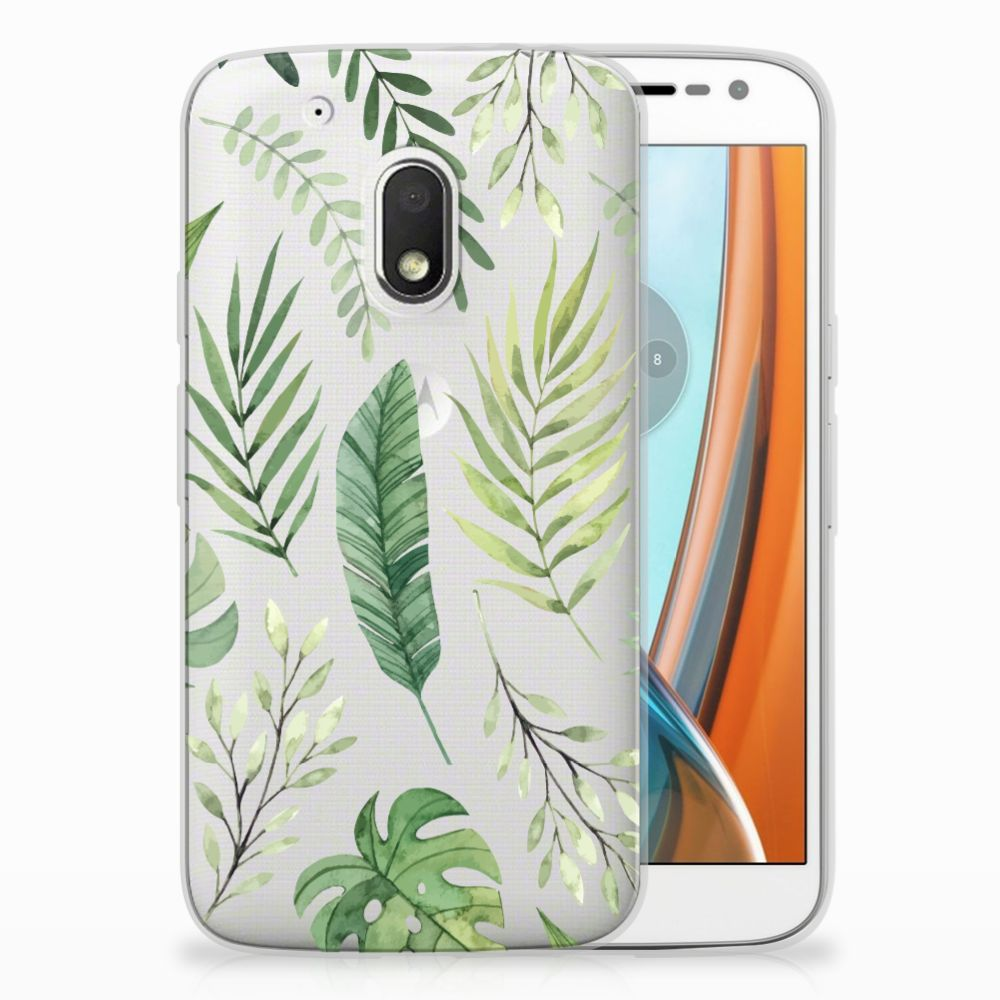 Motorola Moto G4 Play Uniek TPU Hoesje Leaves