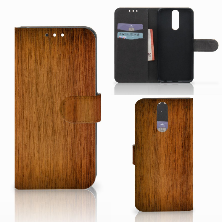 Huawei Mate 10 Lite Book Style Case Donker Hout