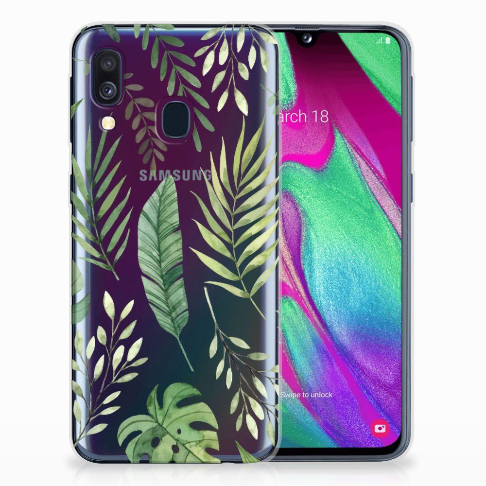 Samsung Galaxy A40 Uniek TPU Hoesje Leaves