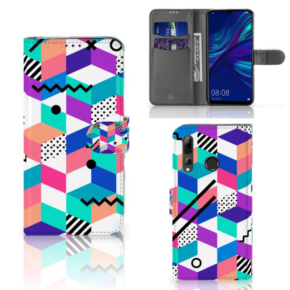 Huawei P Smart 2019 Bookcase Blokken Kleurrijk