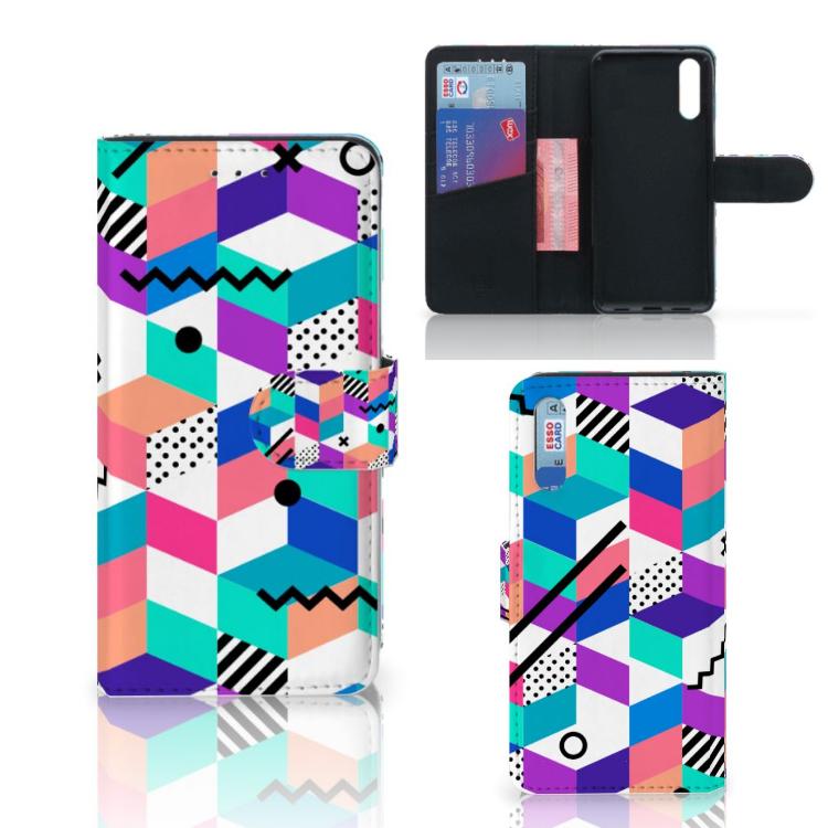 Huawei P20 Bookcase Blokken Kleurrijk