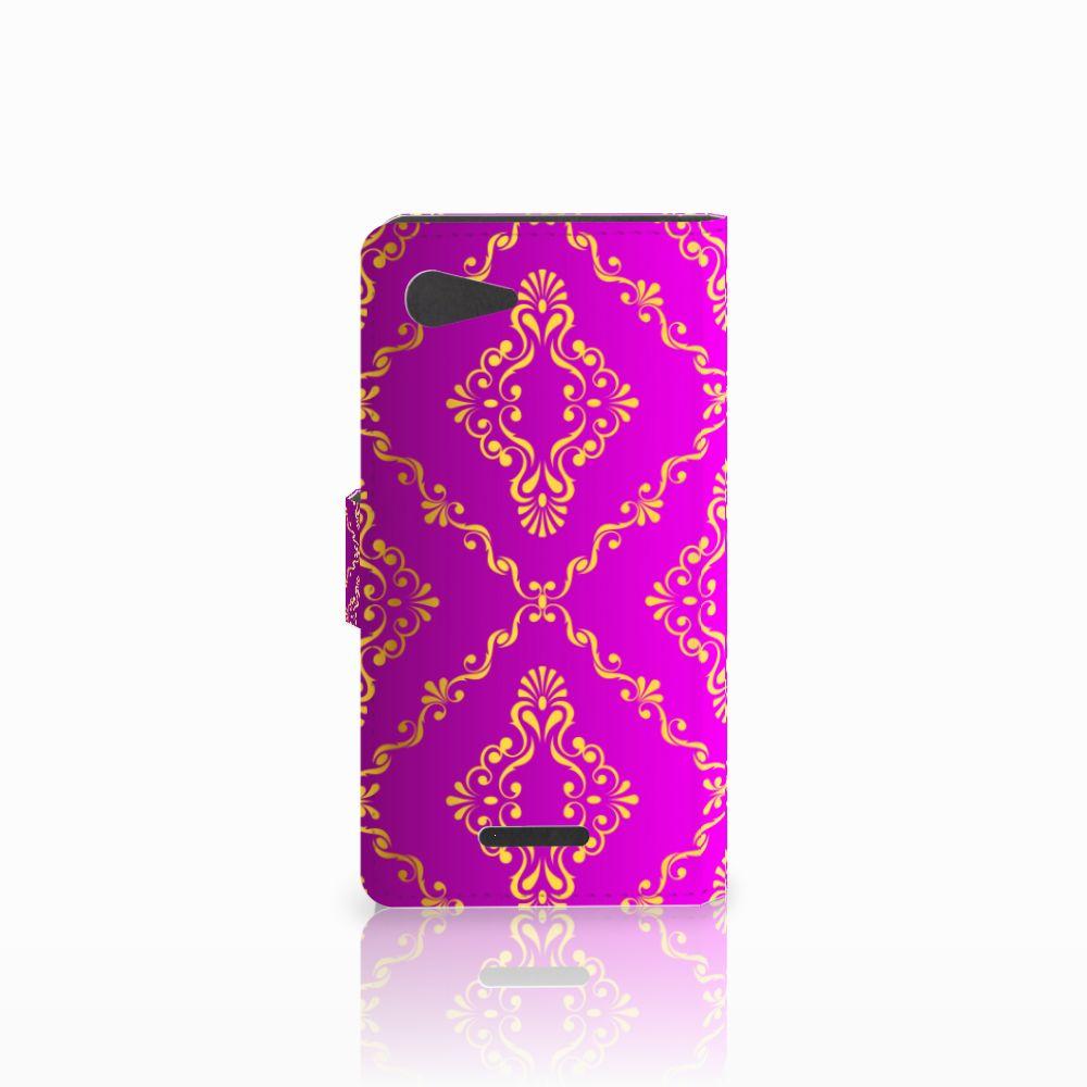 Wallet Case Sony Xperia E3 Barok Roze